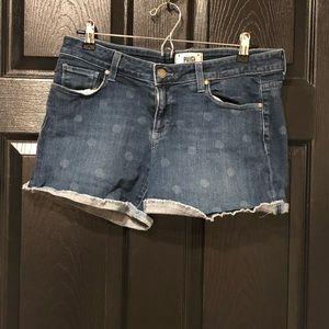 Paige denim polka dot jean denim  shorts